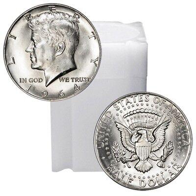 1964 Kennedy Half Dollar Roll Brilliant Uncirculated - BU (20 Coins) ()