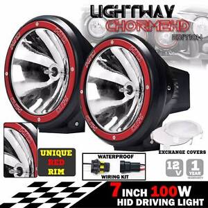 PAIR 7INCH HID XENON 100W DRIVING LIGHTS Spotlight OFFROAD LAMP Dandenong Greater Dandenong Preview