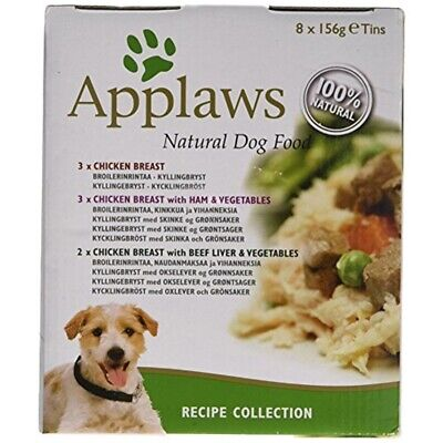 Applaws Dog Food Tin Multipack Recipe Selection, 8x156g