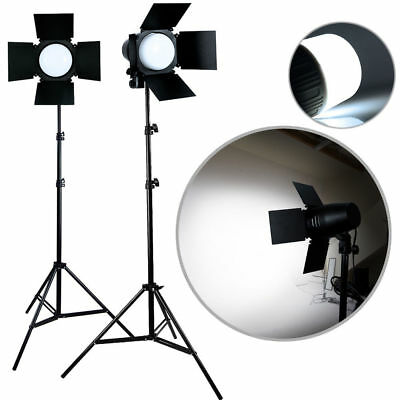 - Photo Studio Photography Light 2x LED Lighting Stand Kit 3300lm Day Light Lamp N