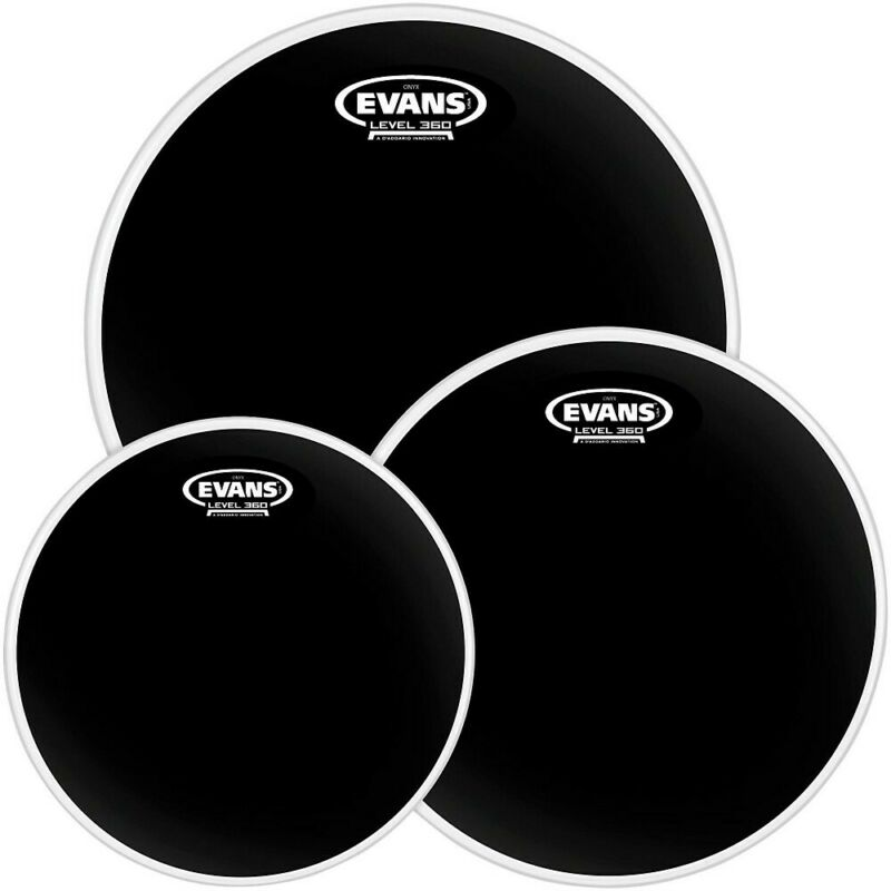 Evans Black Chrome Tompack Fusion - 10/12/14 Inch