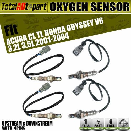 4x Oxygen Sensor For Acura CL TL Honda Odyssey 2001-2004