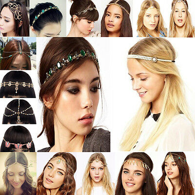 Womens Fashion Metal Rhinestone Head Chain Jewelry Headband Head Piece Hair band](Head Chain Jewelry)