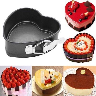 Heart Cake Pan (Cake Baking Pan Heart Shaped Tin Non Stick Bake Tray Dessert Pastry DIY)