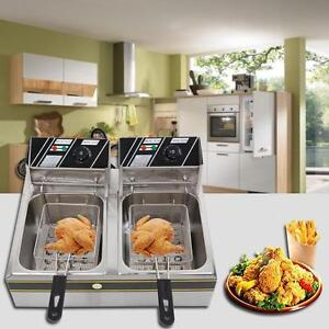2L Electric Countertop Deep Fryer Commercial Basket French Fry Restaurant 5000W - Free shipping
