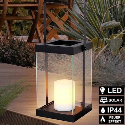 LED Solar Cubrir Péndulo Linterna Fuego Efecto Vela Terraza Exterior Pie Lámpara