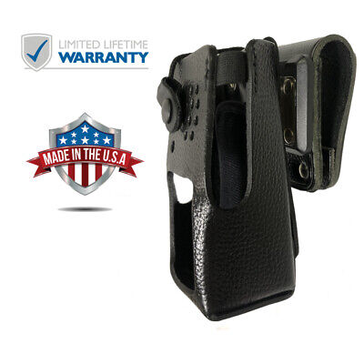Leather Swivel Holster For Motorola Xpr 3500 Two Way Radios