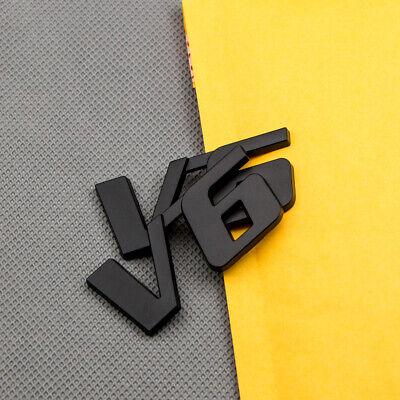 2Pcs Black V6 Metal Emblem Sticker Car SUV Engine Logo Turbo Sport Badge Decal