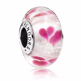 Genuine Pandora Wild Hearts Murano charm 791649