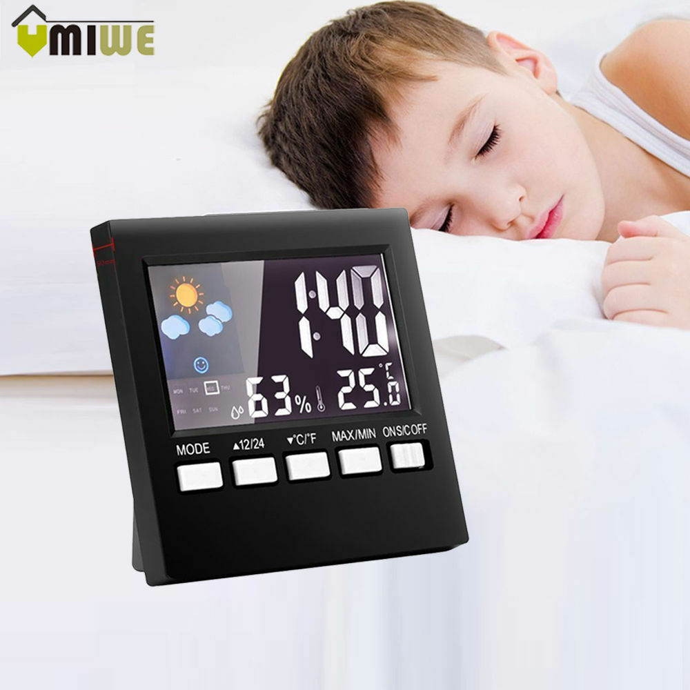 Temperature-Humidity-Alarm-Clock-Digital-Lcd-Weather-Led-Display-Calendar-Timer