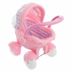 Pink Push Along My First Doll Buggy Micro Pram Pushchair Toy Toddler Blanket