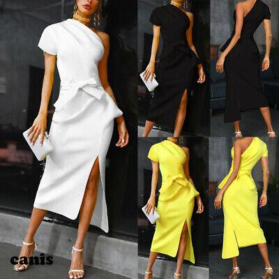 US Women Casual Dresses Short Sleeve Office Wear Bodycon Evening Cocktail Dress