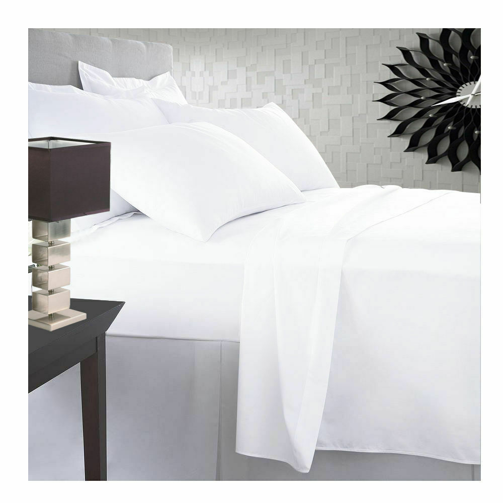 1000 Thread Count 100/% Egyptian Cotton 1 Qty Fitted Sheet Only White Solid