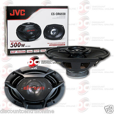 "JVC CS-DR6930 6"" x 9"" 3-WAY CAR AUDIO COAXIAL SPEAKERS (PAIR) 6 x 9 INCH 3 WAY"