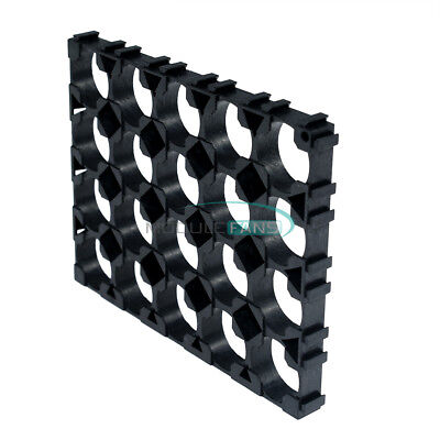 1210pcs 18650 Battery 4x5 Cell Spacer Radiating Shell Pack Plastic Heat Holder