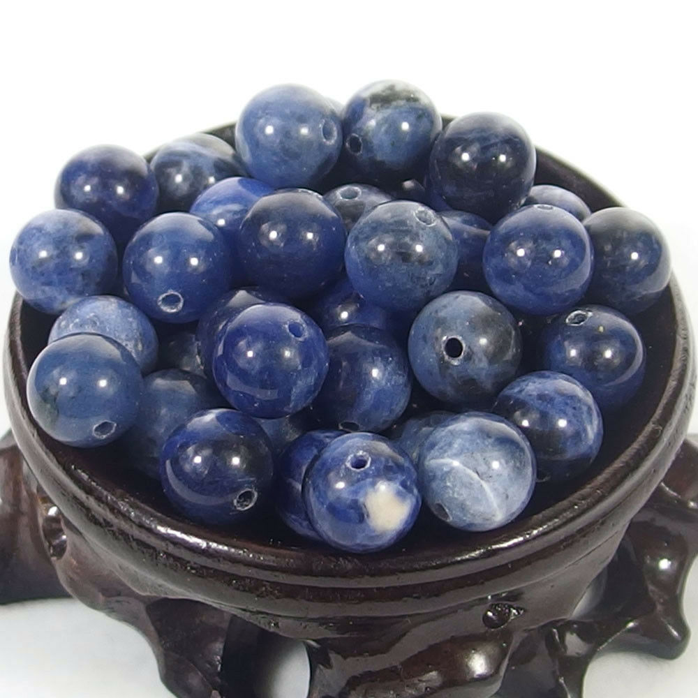Bulk Gemstones I natural spacer stone beads 4mm 6mm 8mm 10mm 12mm jewelry design Sodalite