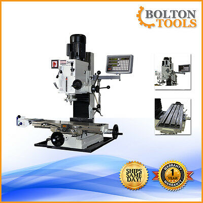 Bench Millingdrilling Machine 9 12 X 32 Mill Drill Milling Machine Zx45pd