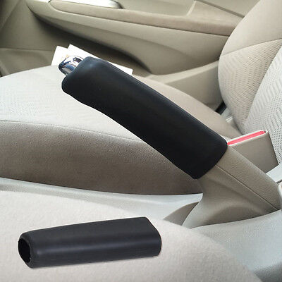 Car Universal Silicone Gel Parking Hand Brake Anti Slip Cover Case Sleeve Black