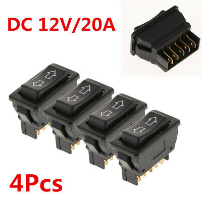 4PCS Car Universal 5Pin Power Door Lock/Power Window Rocker Switches DC 12V/20A