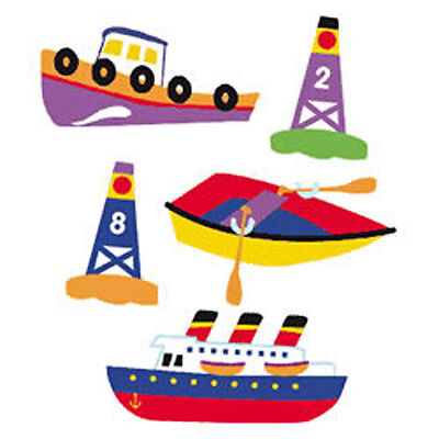 - Olive Kids Boats Buoys Row Tug Ship Nautical Large Wall Murals Stickers Decals