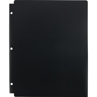 Staples 2 Pocket Folder Snap In 3-hole Punched Black 962240