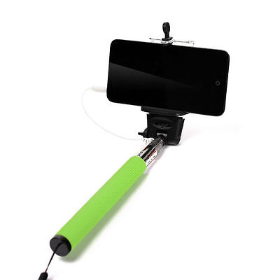 handheld wired remote selfie stick monopod extendable pole holder for iphone. Black Bedroom Furniture Sets. Home Design Ideas