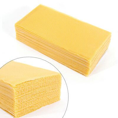 30 Pack 7.716.3 Honeycomb Wax Frames Beekeeping Foundation Honey Bee Hive Tool