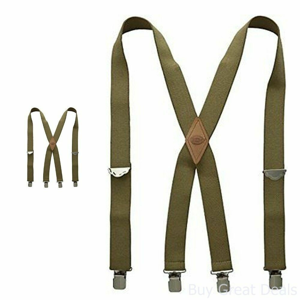Dickies Mens Elastic Work Suspender Braces mossy green Olive