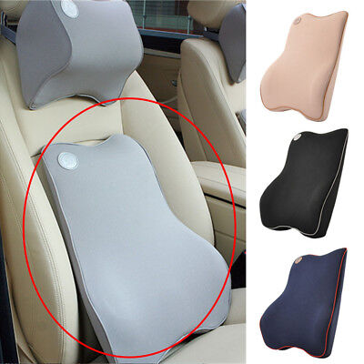 Car Seat Back Support Cushion Memory Foam Breathable Chair Lumbar Waist Pillow Auto Back Support