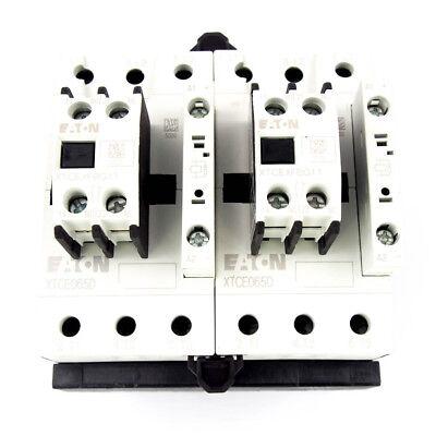 Eaton Xtcr065d11td 24vdc Iec Magnetic Contactor 3 Pole 65 Amp Reversing 1no1nc
