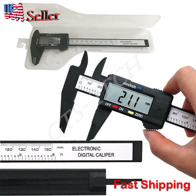 6 Inch 150mm Digital Electronic Lcd Steel Stainless Ruler Gauge Caliper