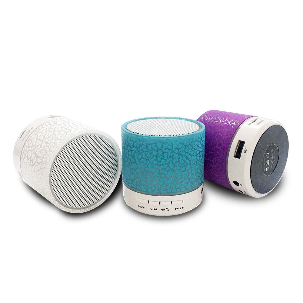 Luminous Lights Rechargeable Wireless Bluetooth Speaker Portable Mini Super Bass For Cell Phone