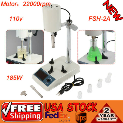 110V High Speed Dispersion Homogenizer FSH-2A Lab Mixer 10~1000ml 22000rpm 185W