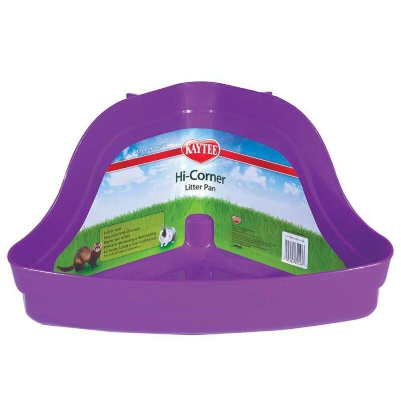 Kaytee Hi-Corner Litter Pan   Plastic Tray for Small Animal Waste