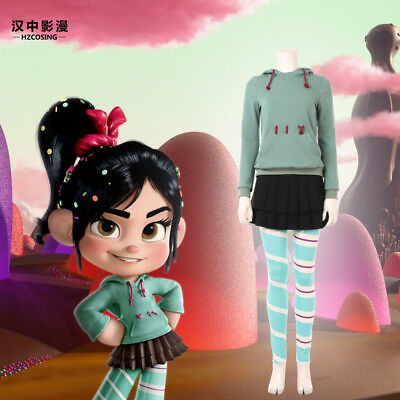 HZYM Ralph Breaks the Internet Wreck-It Ralph 2 Vanellope Cosplay Costume Outfit - Wreck It Ralph Outfit