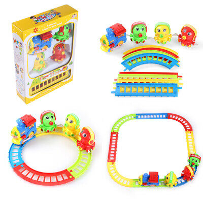 12Pcs Octopus Animal Friends Train And Track Play Set Kid Toddler Christmas Gift