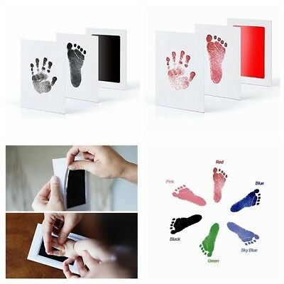 Souvenir Gift New Baby Paw Print Pad Foot Photo Frame Touch Ink Pad Baby Items ()