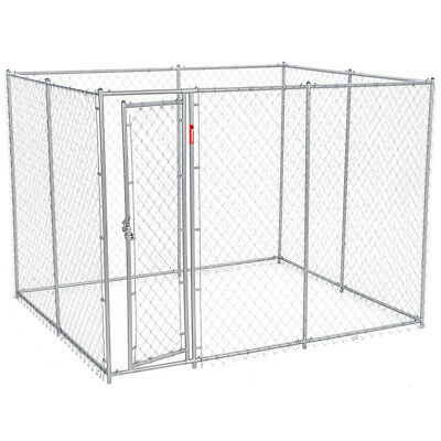 Lucky Dog 10 x 5 x 6 Foot Heavy Duty Outdoor Chain Link Dog Kennel Enclosure