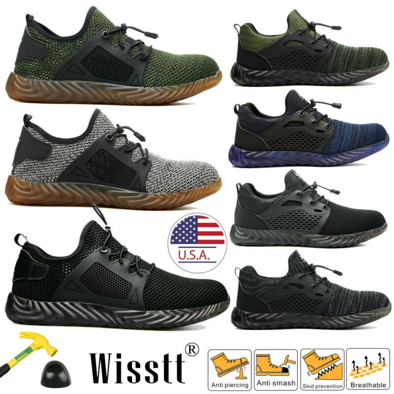 Men's Work Safety Shoes Steel Toe Boots Indestructible Breat