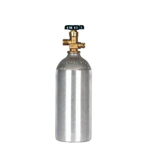 2.5 lb. New Aluminum CO2 Cylinder CGA320 valve - DOT Approved - Fresh Test Date