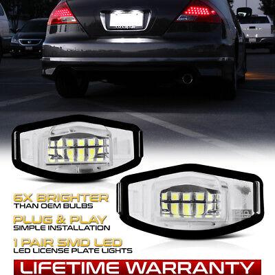 2Pcs For Acura TL TSX MDX Honda Civic Accord 18 LED License Plate Light Direct