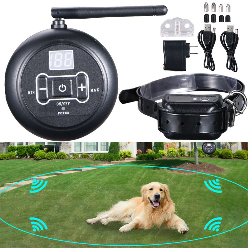 Wireless Electric Dog Fence Waterproof Containment System Shock Collar For 1 Dog