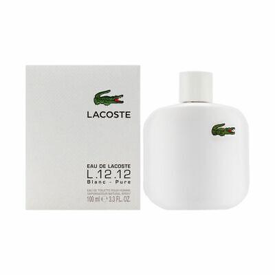 Eau de Lacoste L12.12 Blanc for Men 3.3 oz Eau de Toilette Spray Brand New