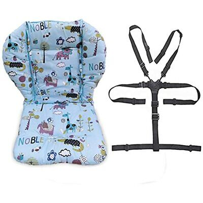 Twoworld Baby High Chair Seat Cushion Liner Mat Pad Cover Resistant And Straps 1