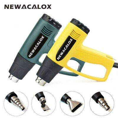 Newacalox Electric Hot Air Blower Heat Gun Dual Temperature Adjustable 220 2000w