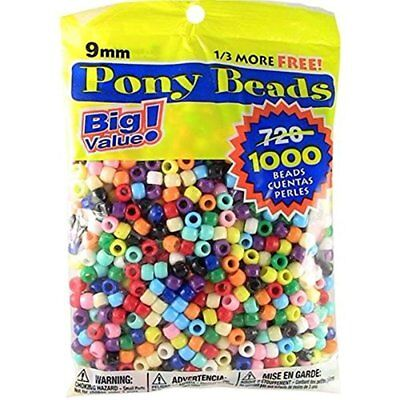 9mm 1000 Rounds (Pony Beads Multi Color 9mm 1000 Pcs in)