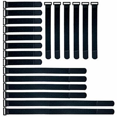 O-Best Reusable Fastening Cable Straps Ties Set Multi-Purpose Hook And Loop (Best Reusable Cable Ties)