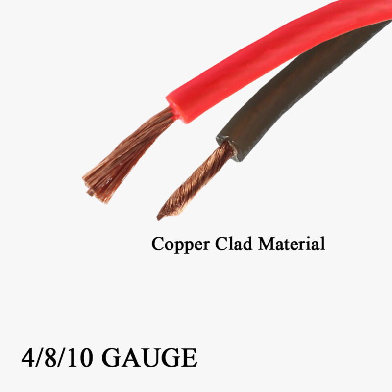 4 8 10 Gauge Automotive Power Ground Wire Copper Clad AWG Amp Cable Various Lot