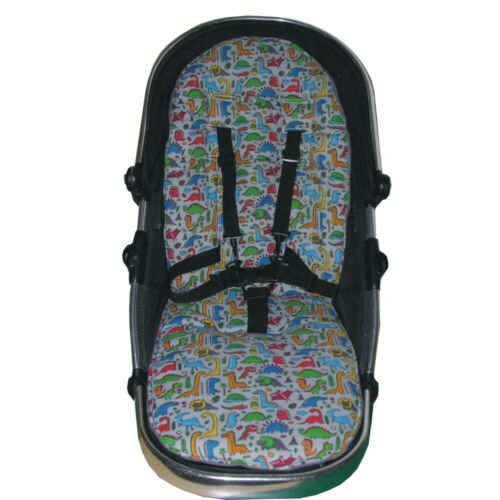 Hand Tailored Dinosaur Padded Seat Liners - Select your model of pushchair