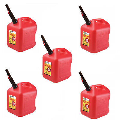 Gas Cans - 5 Gallon Each 5 Pack Plastic Will Not Corrode Or Rust Brand New